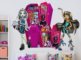 Monster High Locker Wall Decal Set 2