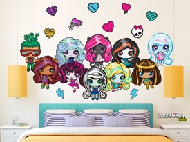 Monster High Minis Wall Decal Set