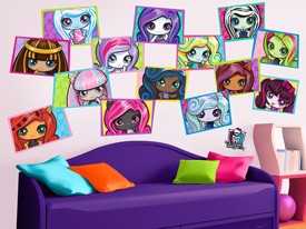 Monster High Minis Wall Decal Set 2
