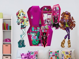 Monster High Locker Wall Decal Set