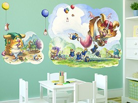 Monsters and Balloons Wall Decal Set