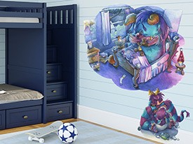 Monster Story Time Wall Decal Set