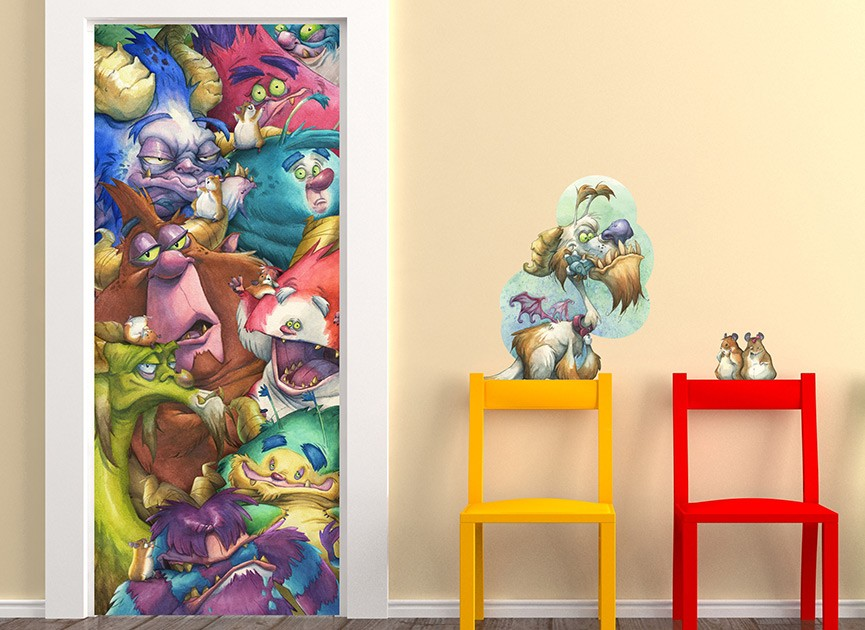 Monsters Are Here Wall Decal
