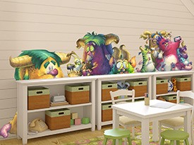 Monsters In My Room Wall Decals