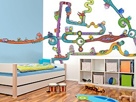 Monster Cars & Freeway Wall Decal Set