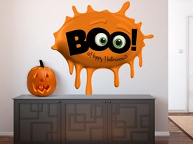 Boo Slime Halloween Wall Decal