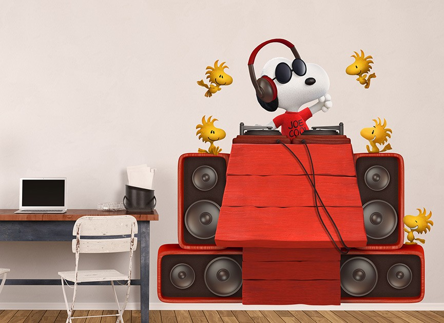 Snoopy DJ Joe Cool Wall Decal Set