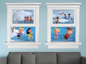 Peanuts Winter Window Wall Decals