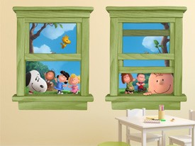 Snoopy and Charlie Brown Wall Decals