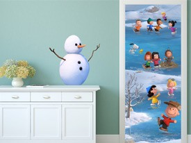 Peanuts Snow Day Wall Decal
