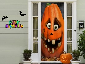 Halloween Pumpkin Door or Wall Decal
