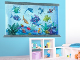 Rainbow Fish Aquarium Wall Decal