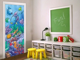 Rainbow Fish Door or Wall Decal