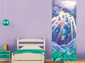 Rainbow Fish Door or Wall Decal 2