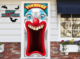 Scary Clown Funhouse Wall or Door Decal