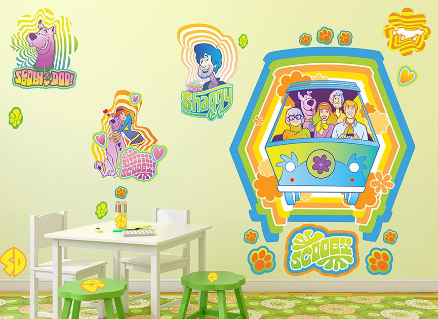 Scooby Doo 70s Funky Wall Decal