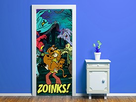 Scooby Doo Monsters Door Wall Decal