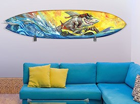 Shark Surfboard Wall Decal