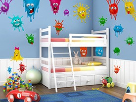 Silly Splat Monster Wall Decal Set