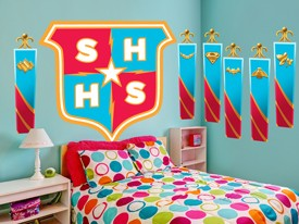 DC Super Hero Girls School Logo Wall Decal