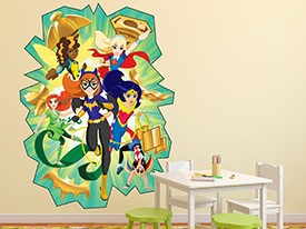 Shop Now; DC Super Hero Girls Friendship Wall Decal