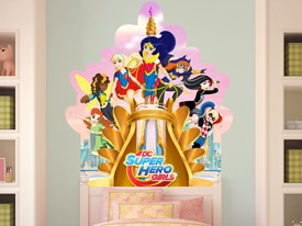 DC Super Hero Girls Headboard Wall Decal 1