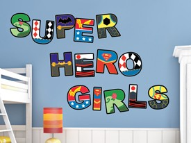 DC Super Hero Girls Logo Wall Decal Set