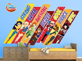 DC Super Hero Girls Motivational Wall Decals