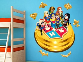 DC Super Hero Girls Character Wall Decal 2