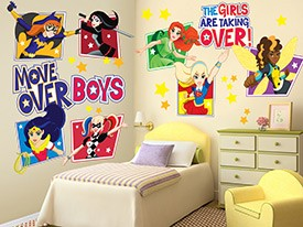 DC Super Hero Girls Wall Decal Set