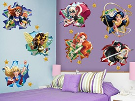 DC Super Hero Girls Star Wall Decal Set