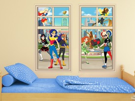 DC Super Hero Girls Window Wall Decal 2