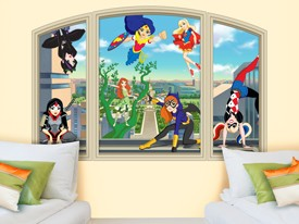 DC Super Hero Girls Window Wall Decal 1