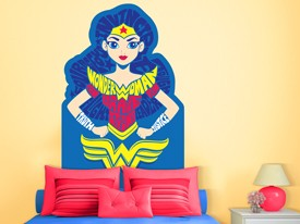 DC Super Hero Girls Headboard Wall Decal 2