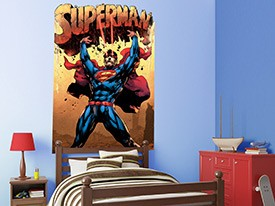 Superman Headboard Wall Decal