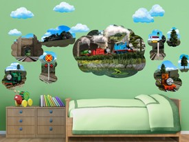 Thomas & Friends Mural Wall Decal Set