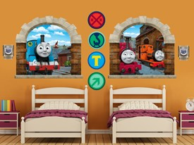 Thomas & Friends Window Wall Decal Set 2