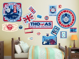 Thomas & Friends Travel Stamps Wall Decals