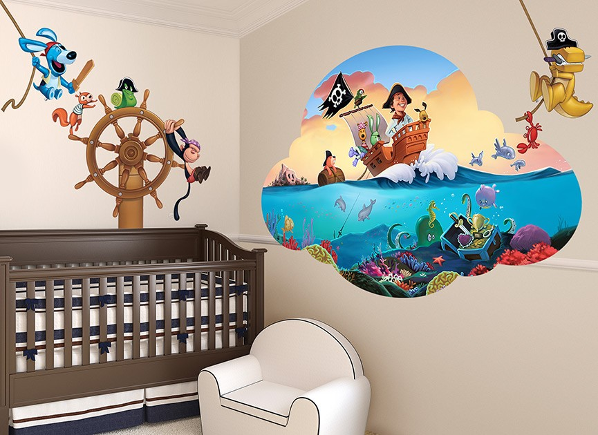 Toy Pirates Wall Decal Set