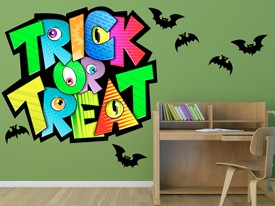 Trick or Treat Monsters Wall Decal