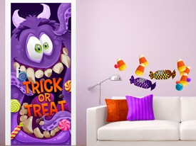 Trick or Treat Monster Wall or Door Decal