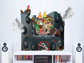 Looney Tunes Wile E. Coyote DJ Wall Decal