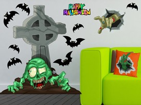 Zombie Tombstone Wall Decal