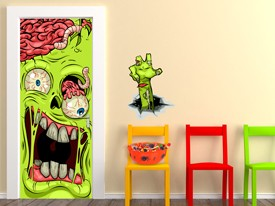 Cartoon Zombie Door or Wall Decal