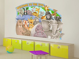 Zoo Animals Wall Decal