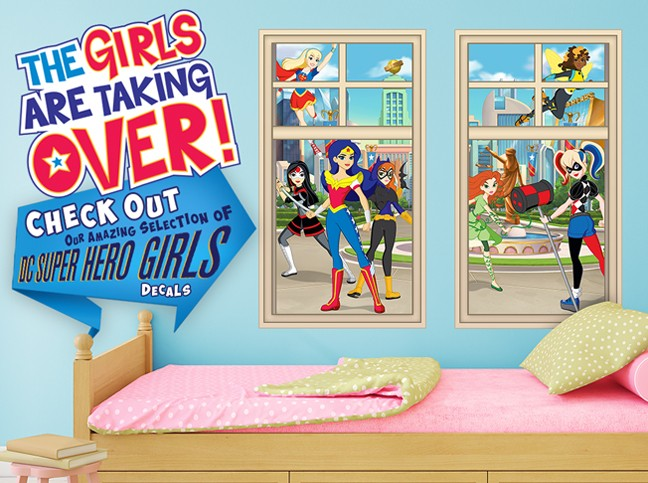 DC SUPERHERO GIRLS WALL DECALS