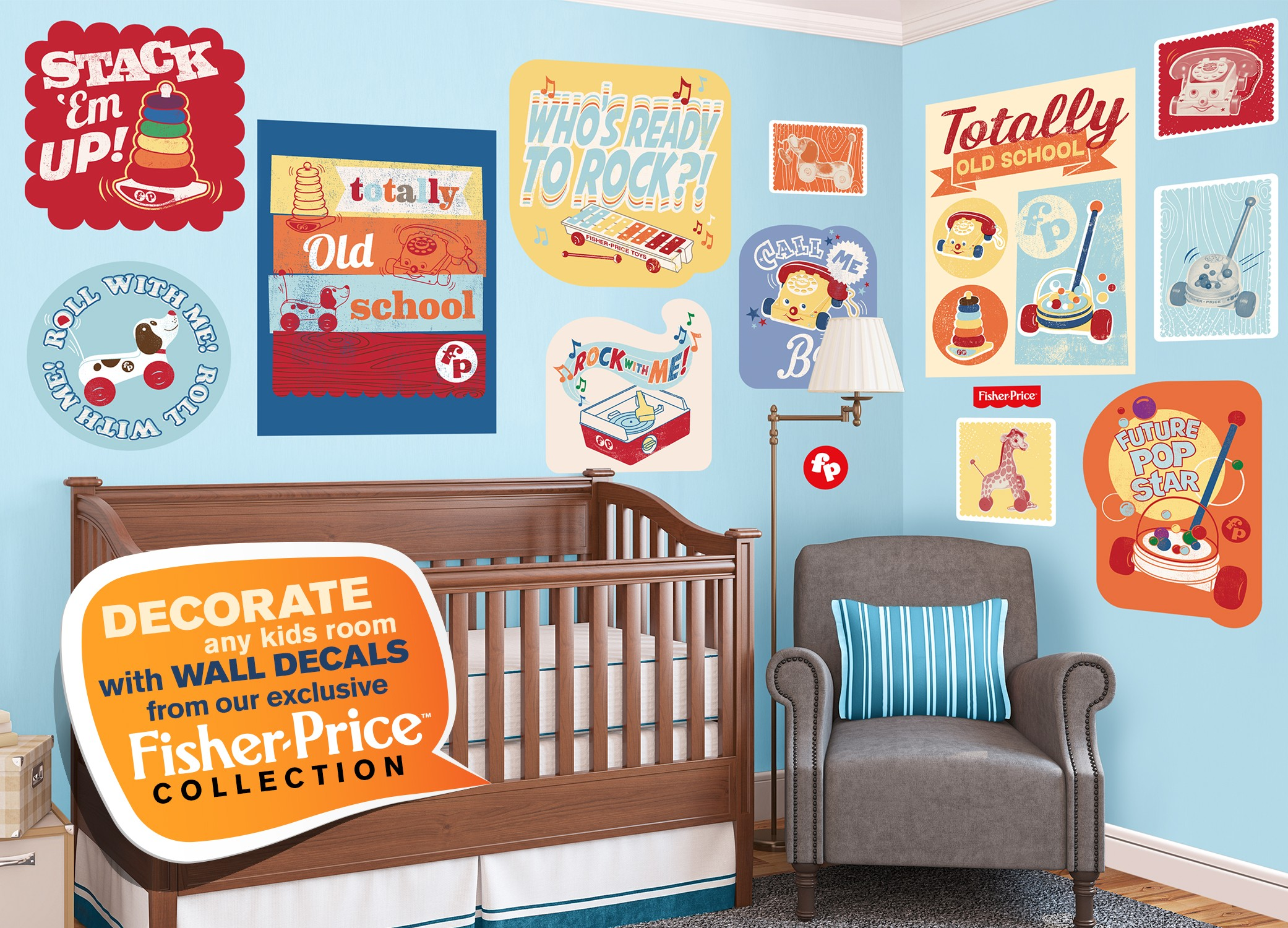 Fisher Price Wall Decals
